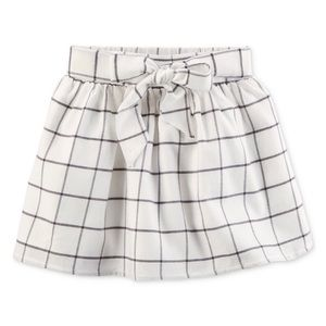 Carter's Girl Flannel Bow tie front skirt